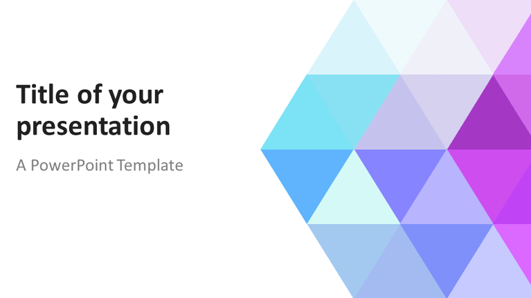 Free Abstract pastel PowerPoint Template - Widescreen