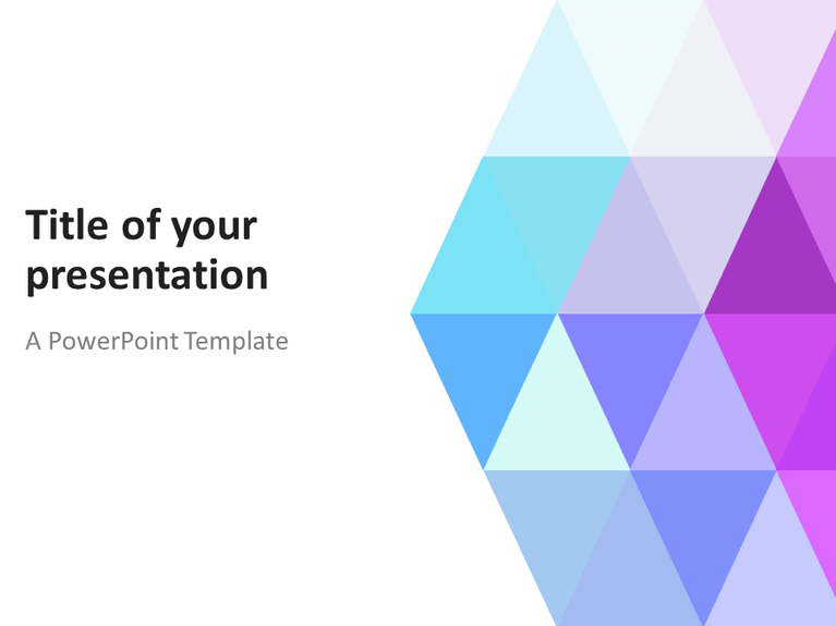 abstract powerpoint template with pastel triangles, Powerpoint