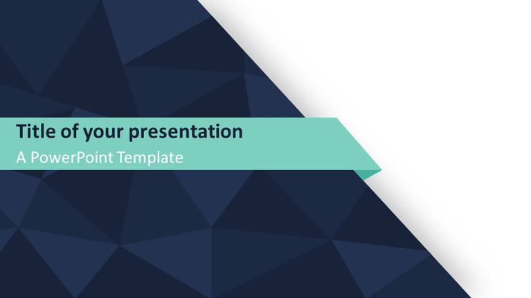 Free Abstract Triangle Pattern PowerPoint Template - Widescreen