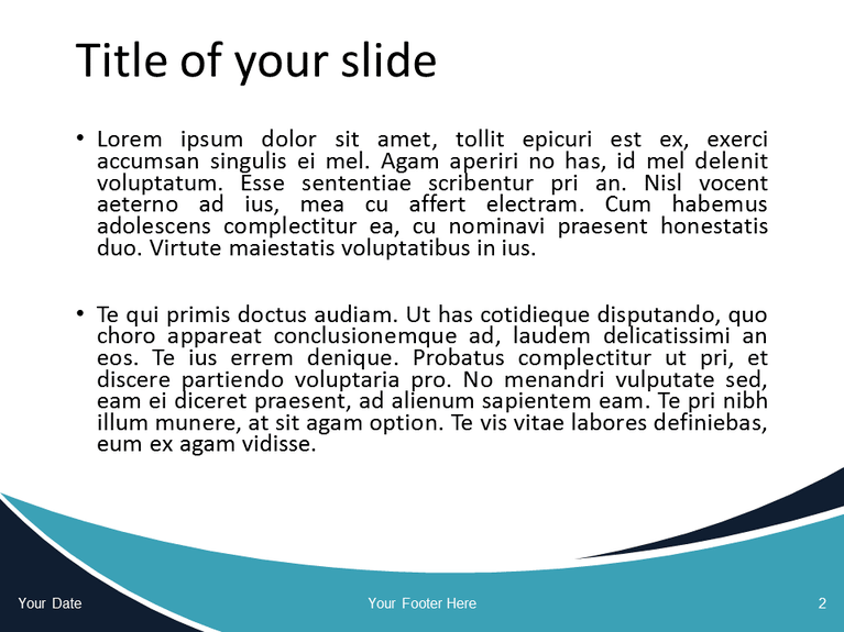 Free Blue Wave PowerPoint Template - Slide 2