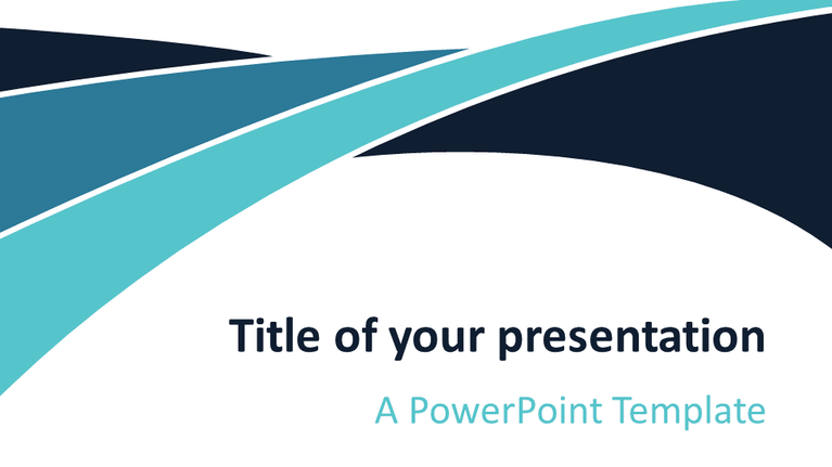 Free Blue Wave PowerPoint Template - Widescreen