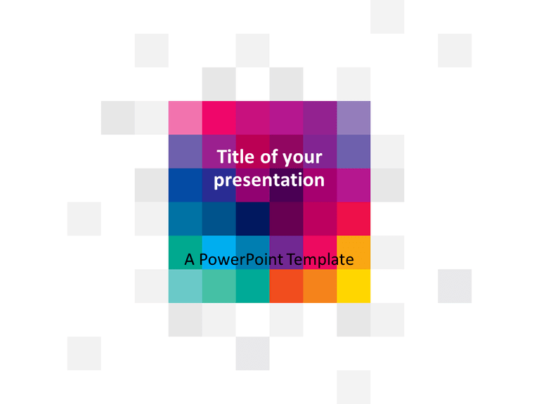 Free Modern Pixels PowerPoint Template