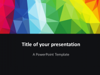 Free Modern polygons PowerPoint template