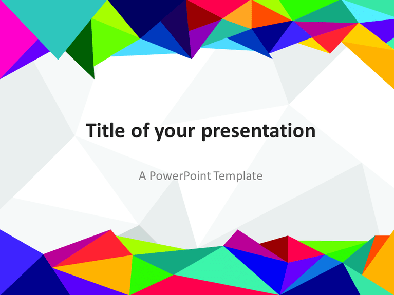 Free PowerPoint template with colors of the 80s