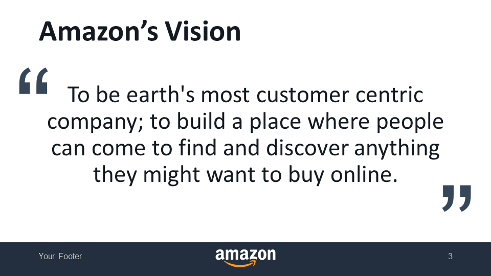 Amazon's Vision - Free PowerPoint Template - Slide 3