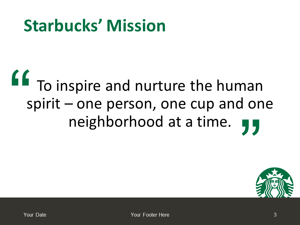 Starbucks PowerPoint - Free Template - Slide 3
