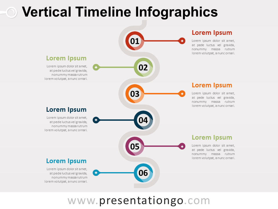 Vertical Timeline Infographics for PowerPoint - PresentationGO.com