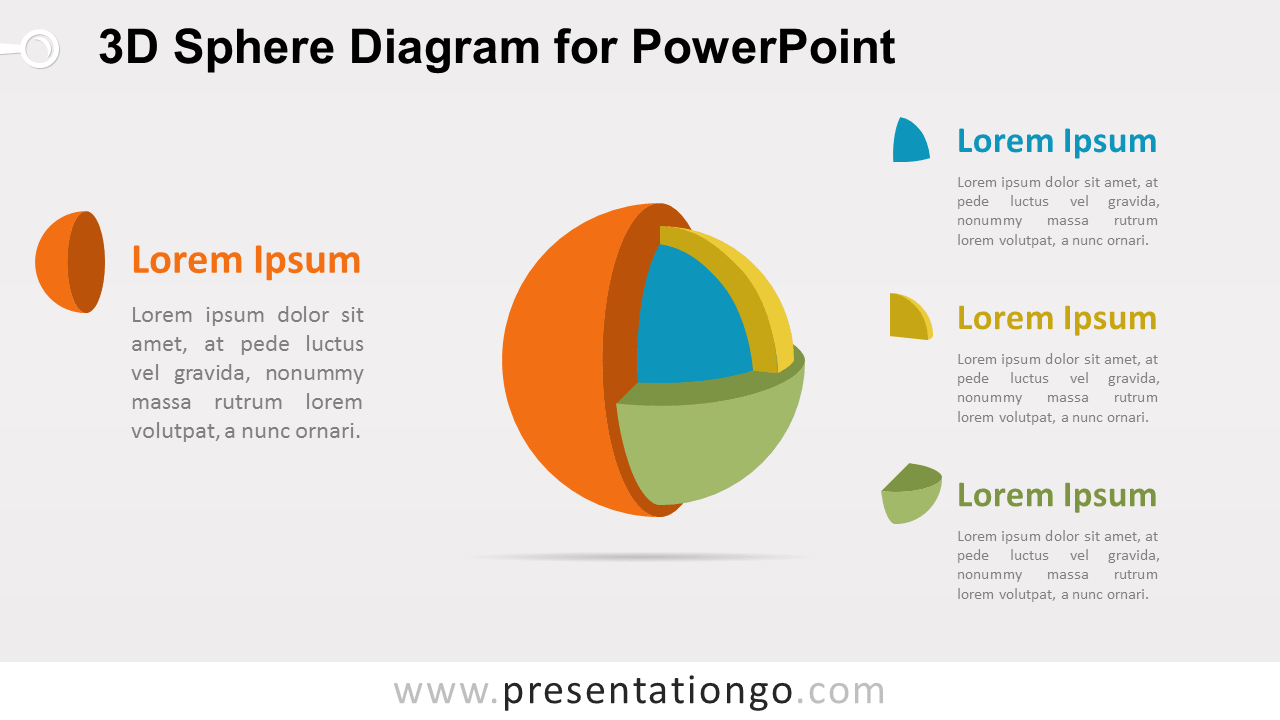 3D Sphere Diagram for PowerPoint