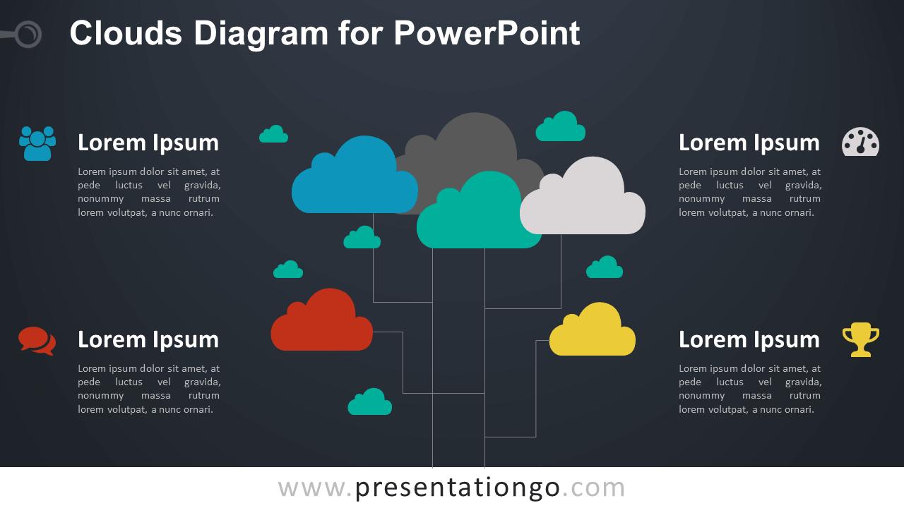 Clouds for PowerPoint - Dark Background