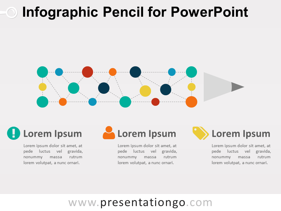 Infographic Pencil Diagram for PowerPoint