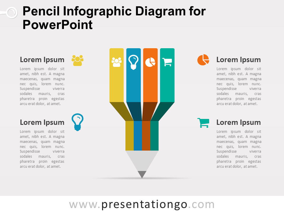 Infographic Pencil Diagram For PowerPoint PresentationGOcom