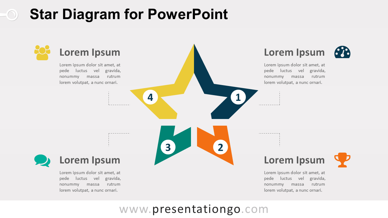 Star Diagram PowerPoint Template