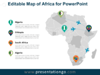 Free Editable Map of Africa for PowerPoint