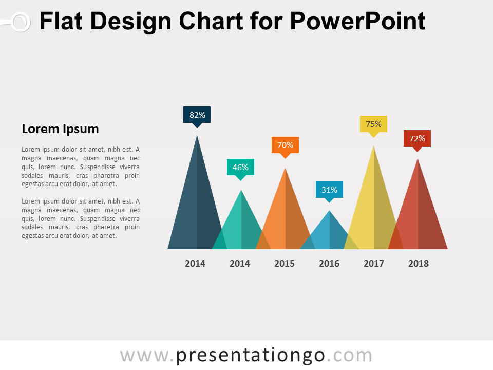 Free Flat Design Chart for PowerPoint