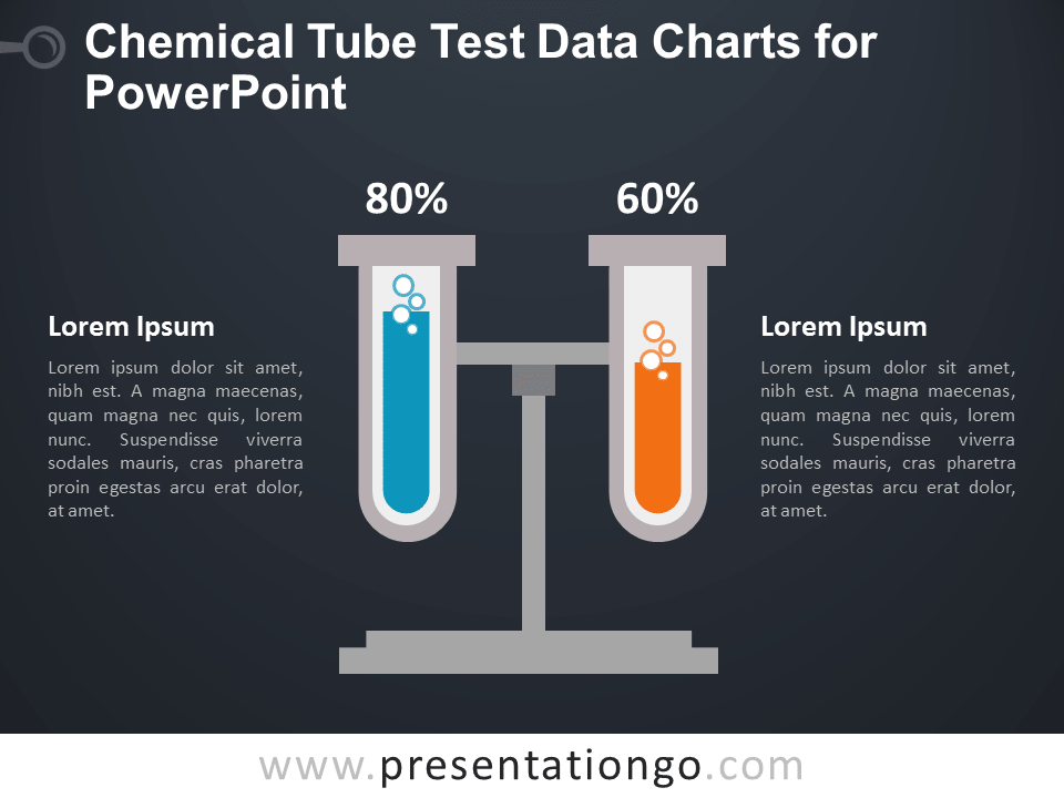 Tube Test Charts for PowerPoint - Dark Background