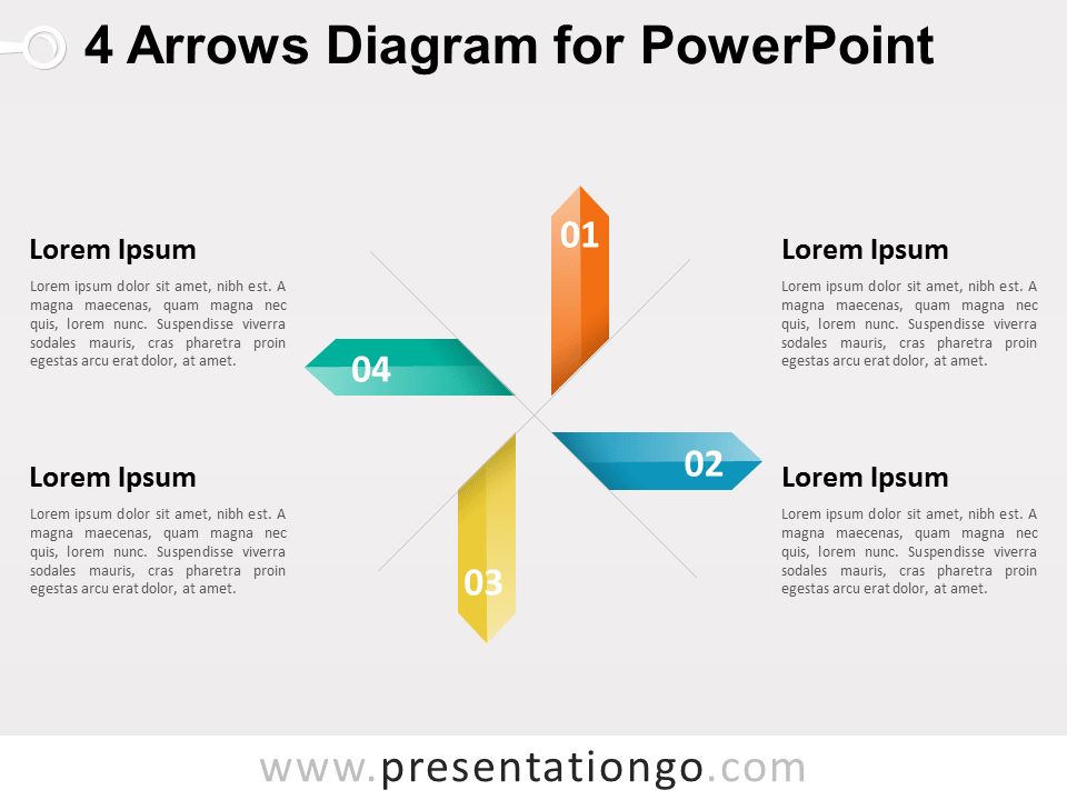 4 Arrows Diagram for PowerPoint