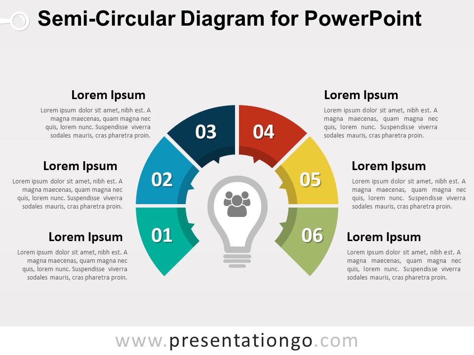 semicircular diagram for powerpoint presentationgocom