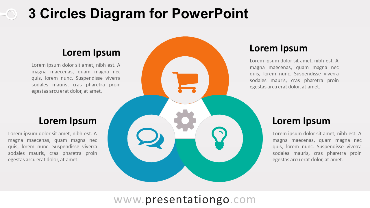 3 Circles PowerPoint Template