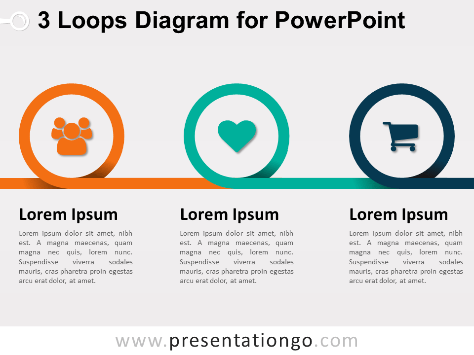 3 Loops Diagram for PowerPoint