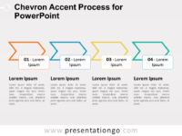 Chevron Accent Process Diagram for PowerPoint