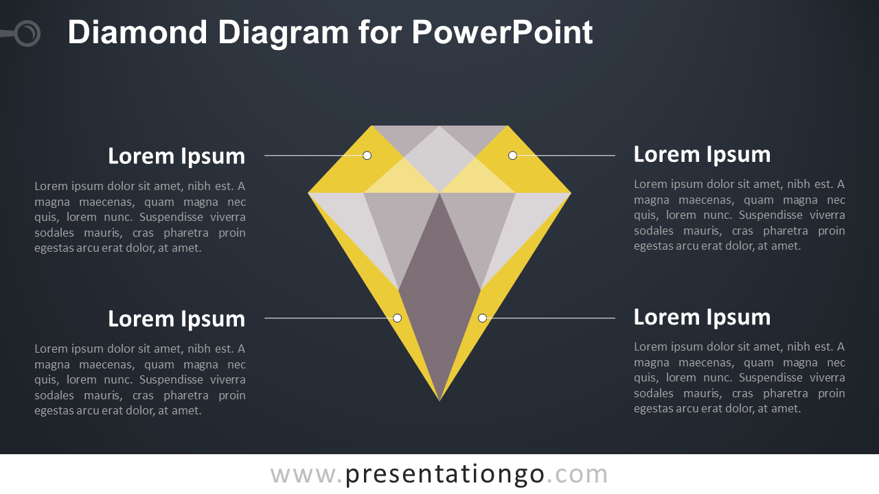 Diamond PowerPoint Template - Dark Background