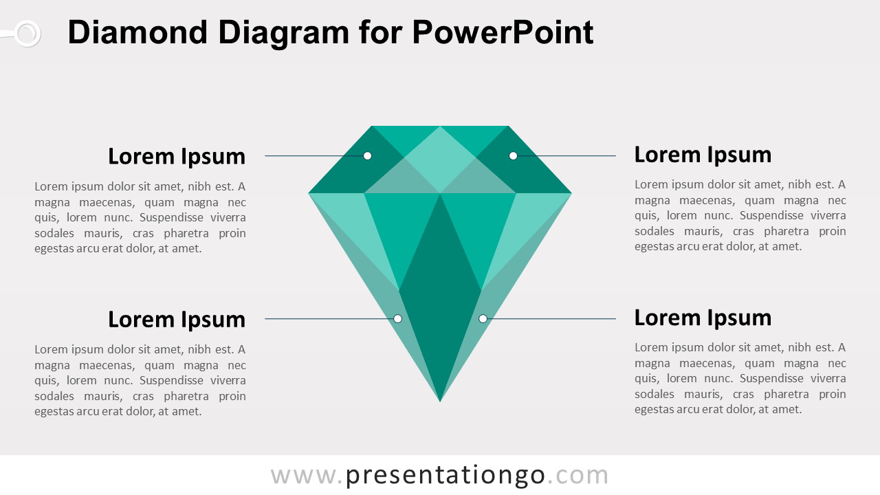 Green Diamond PowerPoint Template