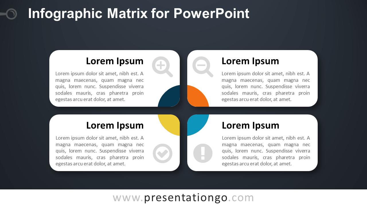 Matrix Diagram for PowerPoint - Dark Background