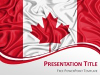 PowerPoint Template with the Flag of Canada