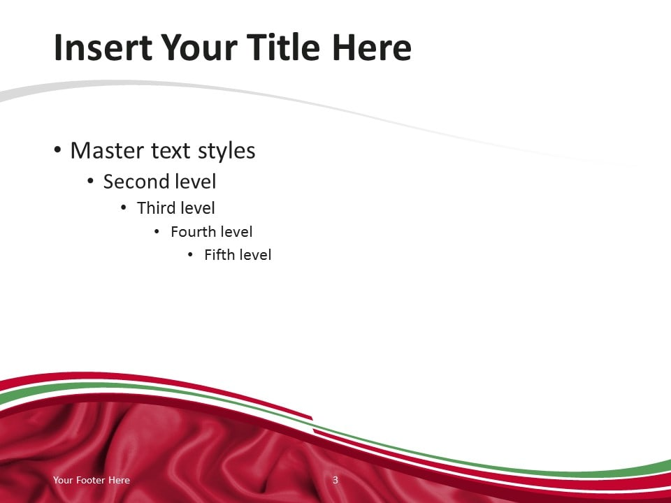 PowerPoint Template with the Flag of Iraq - Content Slide 2