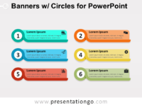Banners with Circles for PowerPoint