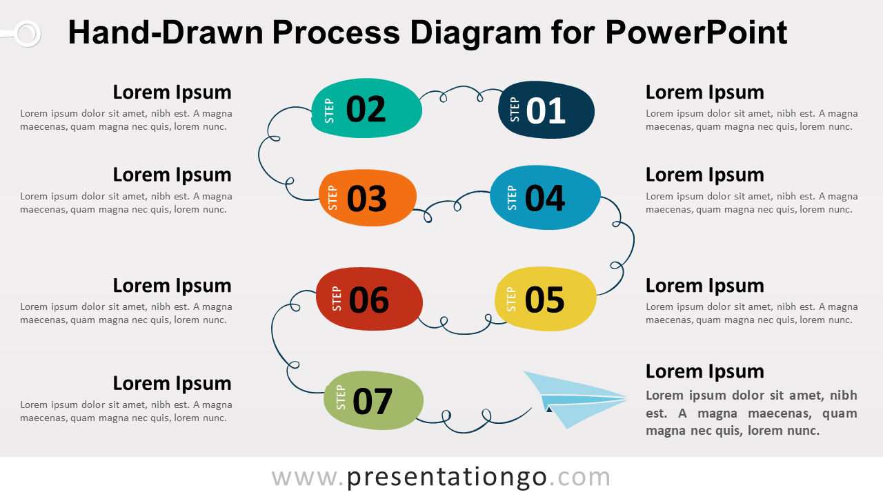 Hand-Drawn Process for PowerPoint