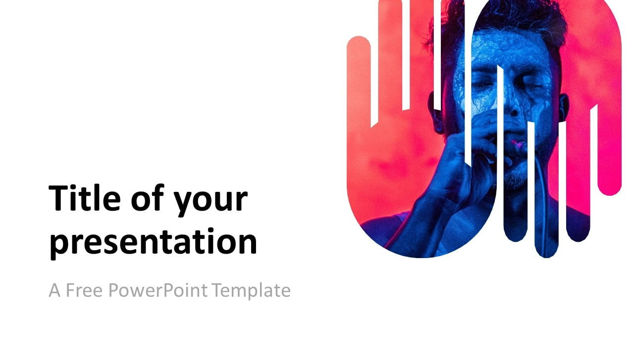 PowerPoint Template with Up-and-Down Hands Picture Placeholder