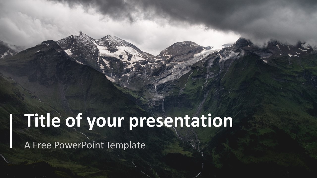 Simple PowerPoint Template with Full Picture Background