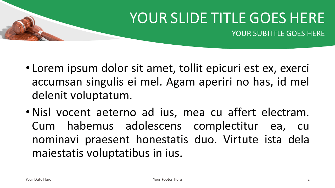 Justice and Law Free PowerPoint Template - Slide 2