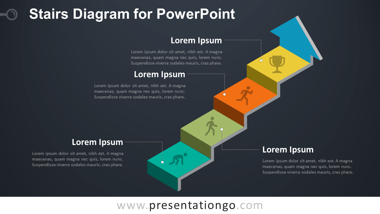 stairs diagram for powerpoint presentationgocom