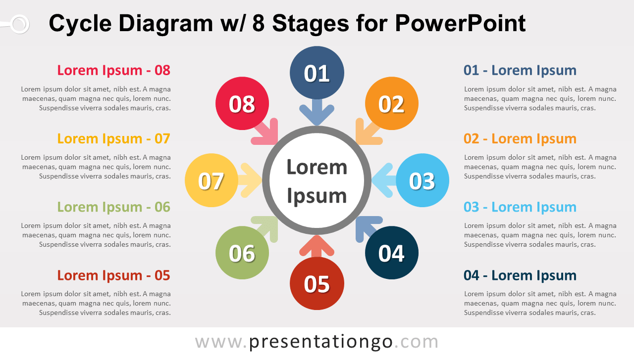 Free Cycle with 8 Stages for PowerPoint