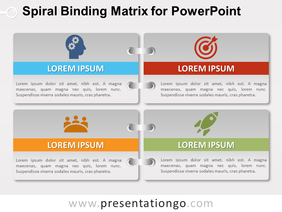Free Gradient Spiral Binding Matrix for PowerPoint