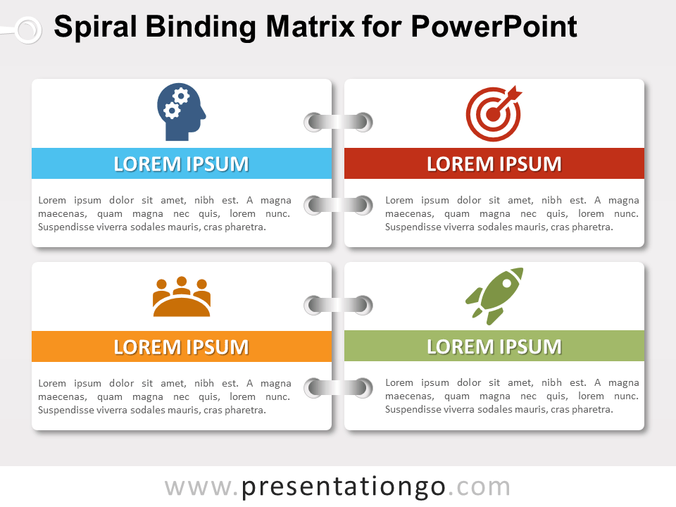 Free Spiral Binding Matrix for PowerPoint