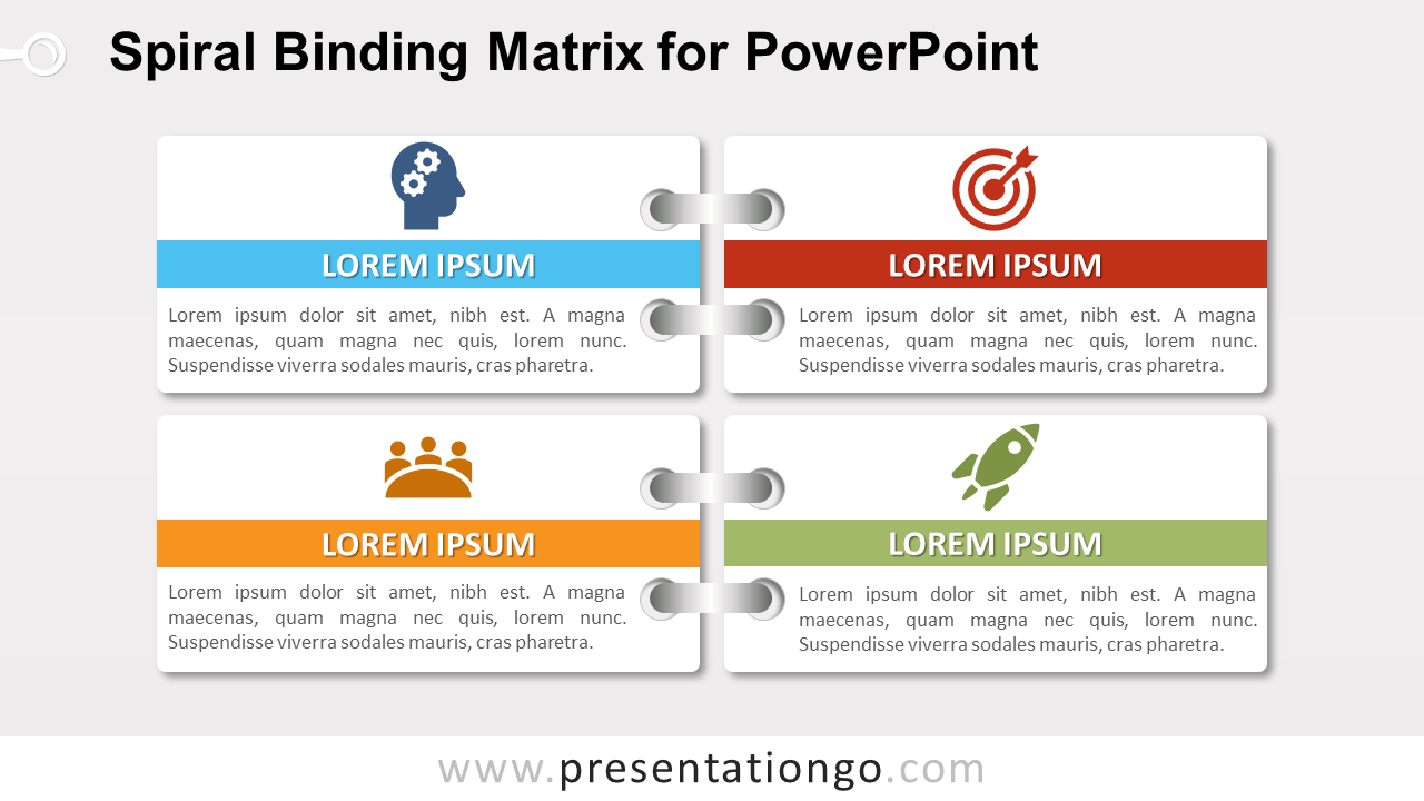 Free Spiral Binding Matrix Template for PowerPoint