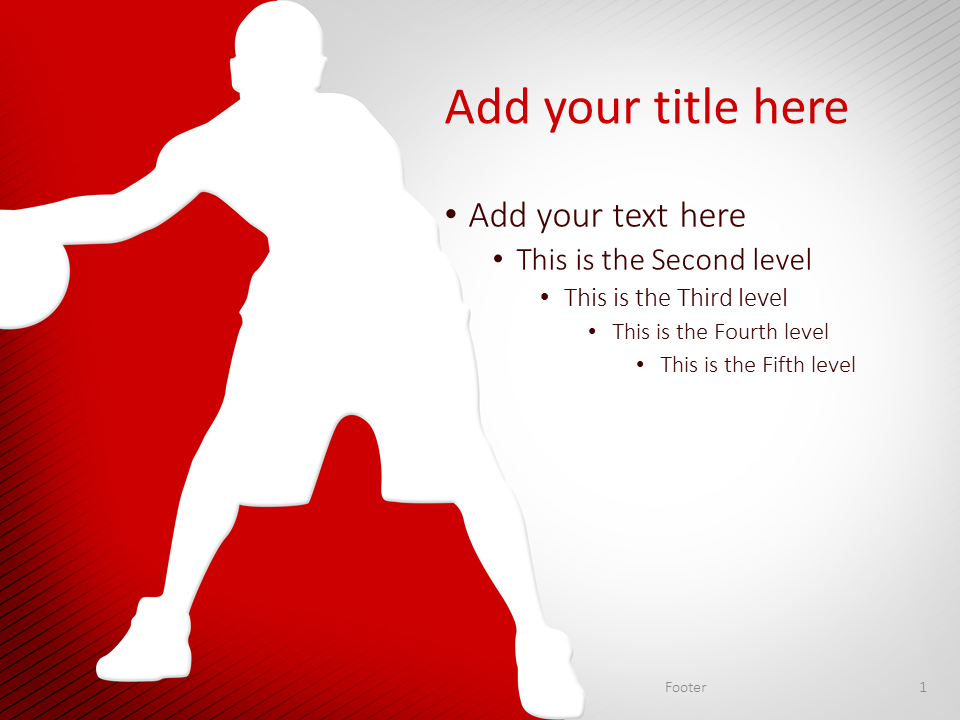 Basketball PowerPoint Template Red