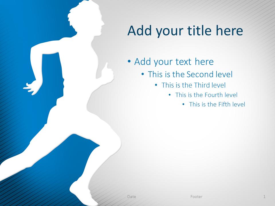 Running PowerPoint Template Blue