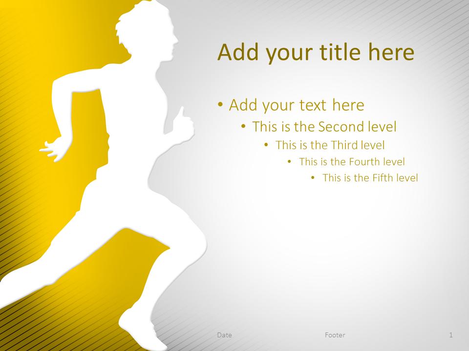 Running PowerPoint Template Yellow