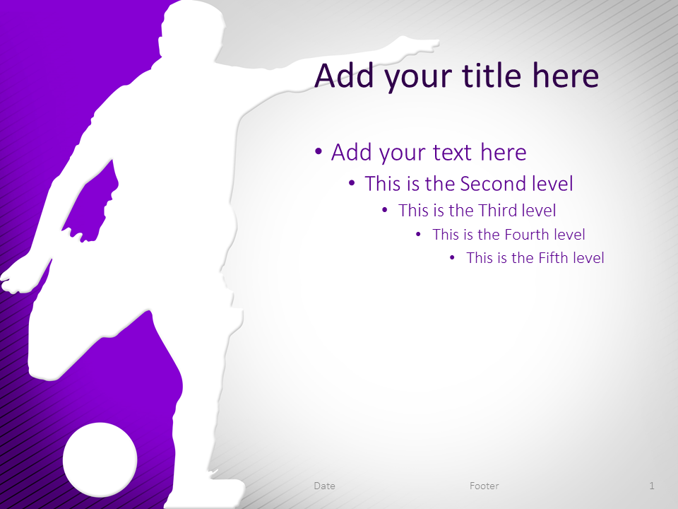 Soccer PowerPoint Template Purple