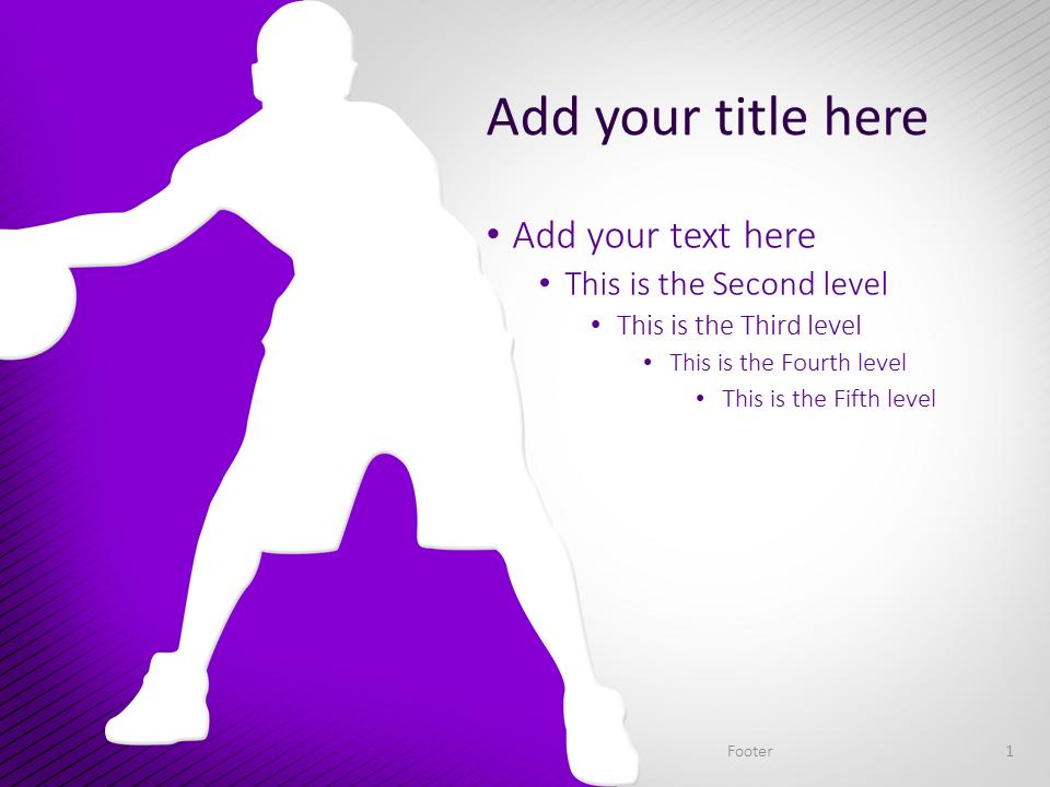 Basketball PowerPoint Template Purple