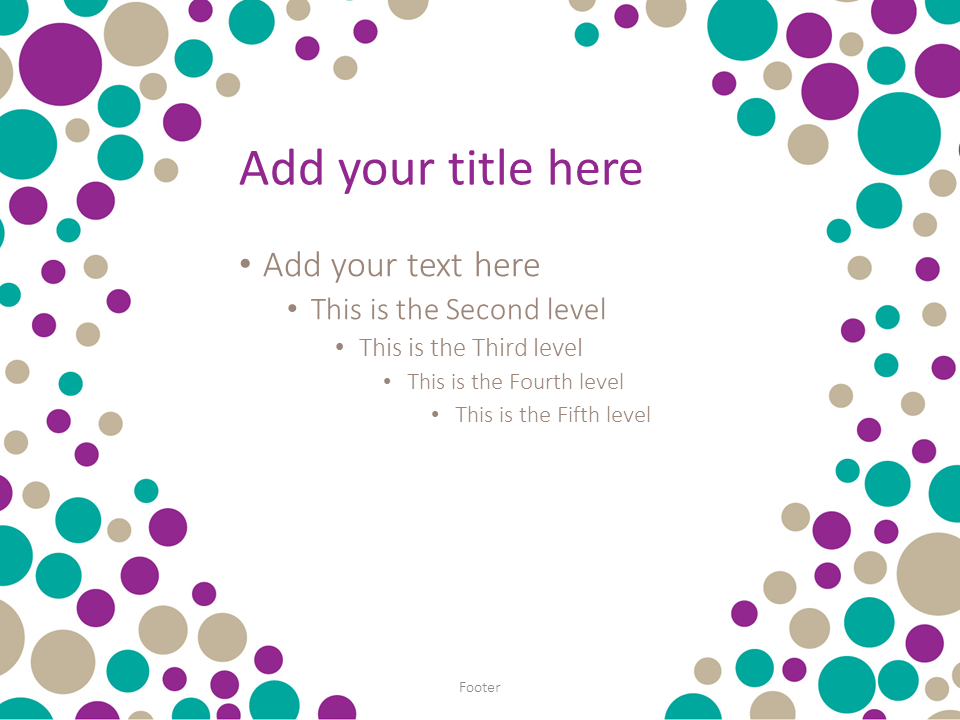 Turquoise Bubbles PowerPoint Template