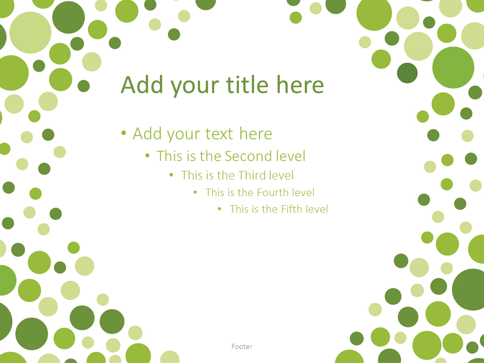 Green Bubbles PowerPoint Template