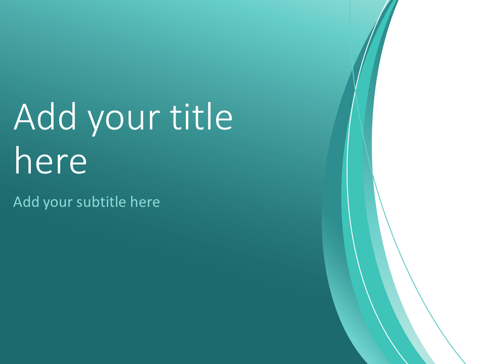 Turquoise Abstract PowerPoint Template