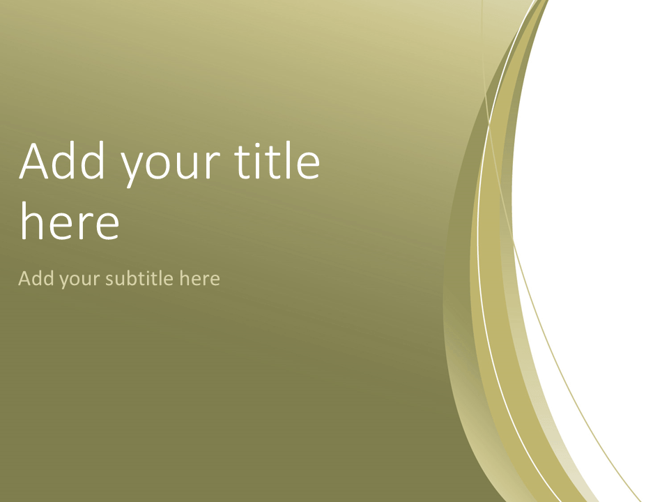 Gold Abstract PowerPoint Template