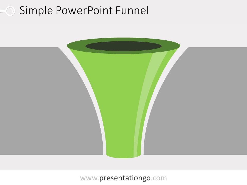 Free editable curved PowerPoint funnel diagram