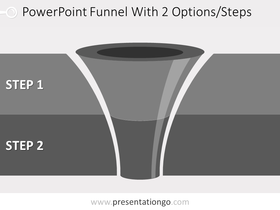 Free editable 2 level funnel diagram for PowerPoint